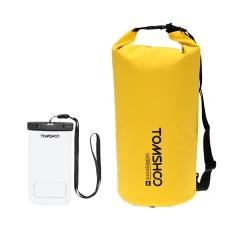 Toko Tomshoo 10L 20L Outdoor Tahan Air Dry Bag Sack Storage Bag Dengan Waterproof Phone Casing Untuk Bepergian Rafting Berperahu Kayak Kano Berkemah Snowboarding Intl Online Di Tiongkok
