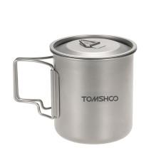 Review Tomshoo 420 Ml Titanium Piala Air Piknik Berkemah Mug With Tutup Terbaru
