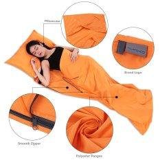 TOMSHOO 75*210 Cm Outdoor Travel Camping Hiking Polyester Pongee Sehat Sleeping Bag Orange-Intl