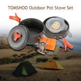 Beli Tomshoo Outdoor Camping Hiking Cookware Dengan Mini Berkemah Pengapian Piezoelektrik Kompor Backpacking Memasak Piknik Pot Kompor Set Intl Online Terpercaya