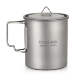 Spesifikasi Tomshoo Ultralight 750 Ml Titanium Cup Outdoor Portable Camping Piknik Mug Piala Air Dengan Foldable Handle Intl Yang Bagus