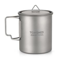 Tomshoo Ultralight 750 Ml Titanium Cup Outdoor Portable Camping Piknik Mug Piala Air Dengan Foldable Handle Intl Original
