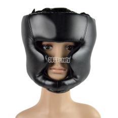 Obral Toprank Thai Kickboxing Brace Head Guard Gear Black Murah