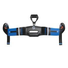 Toseek Carbon Fiber AERO Mengangkat Gaya DROP 400mm Handlebar Biru dengan Mount untuk Balap Road Sepeda-Intl
