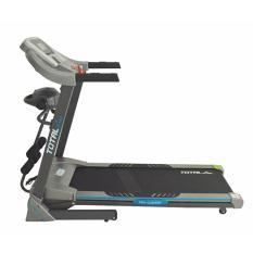 Free Ongkir Jabodetabek - pulau Jawa - TOTAL FITNESS - Treadmill Elektrik TL 270 - Multifungsi- Auto Icline - Hitam