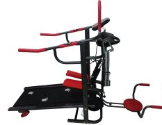 TOTAL FITNESS - Treadmill Manual 6 Fungsi TL 004 - Hitam-Merah - Alat Fitness - Gym - Olahraga - Best Seller Product