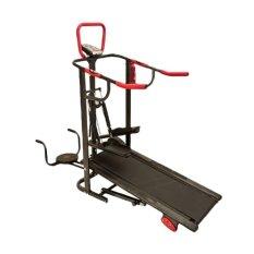 Total Fitness Treadmill Manual TL003 Hitam Merah - Gratis Pengiriman & Instalasi Khusus JABODETABEK, Surabaya dan Sidoarjo
