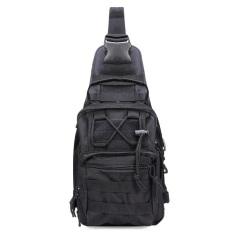 Harga Hemat Travel Militer Taktis Army Camo Ransel Selempang Dada Bag Black