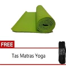 Diskon Produk Travelholix Matras Yoga 6Mm Good Quality Hijau Gratis Tas Matras