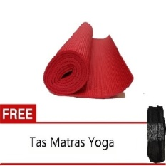 Jual Travelholix Matras Yoga 6Mm Good Quality Merah Gratis Tas Matras Travelholix