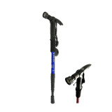 Jual Trekking Pole Senter Kompas Anti Shock Tongkat Hiking Pendaki Volide Biru Import