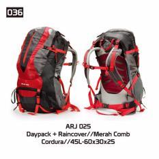 Harga Trekking Tas Gunung Carrier Daypack Hiking Outdoor Arj 025 Fullset Murah