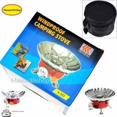 Kompor Camping Kovar K-203 - Portable card type stove/Trend Kompor Anti Angin - Merah /Mawar88shop