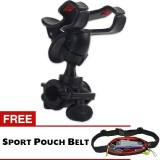 Trend S Sepeda Phone Gps Holder Bicycle Hitam Gratis Sport Pouch Belt Terbaru