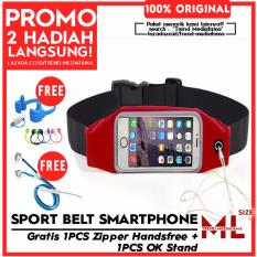 Spesifikasi Trend S Tas Sports Running Gym Waist Belt Bag Case Cover L Merah Gratis Ok Stand Holder Cable Resletting Yang Bagus