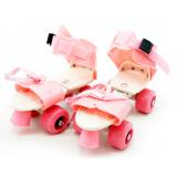 Jual Tsh Sepatu Roda 4 Anak Dry Skate Sepasang Tas Pink Lengkap