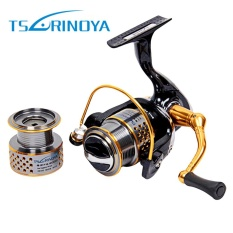 TSURINOYA F2000 Logam Berputar Reel Fishing Tackle Godaan dengan ONE WAY Clutch (Warna Campuran)-Intl
