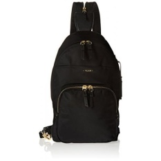 TUMI Voyageur Nadia Convertible Backpack/Sling, Hitam-Intl