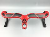 Diskon Txch Stang Serat Karbon Merah Stang Sepeda Jalan Stang Sepeda Kekuatan Tinggi Hot Karbon Batang 400 90Mm Merah Amd Hitam Tiongkok