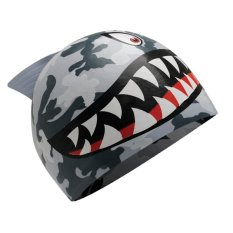 Promo Tyr Shark Junior Silicone Swim Cap Grey Camo