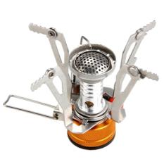 Ultralight Portable Outdoor Piknik Gas Lipat Berkemah Mini Kompor Baja