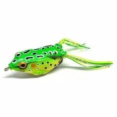 Umpan Pancing Kodok Ray Frog Bionic Fishing Gear Beak Bait Umpan Pancing Buatan Tiruan Katak Renang di Air Dengan Kait Atas Tajam Ekor Rumbai Mini Jitu Menarik Ikan Sungai Laut Rawa Danau Aksesoris Memancing Mancing s3791 - Green