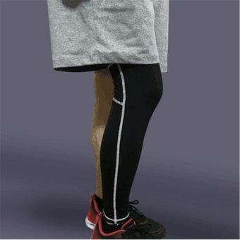 Harga Penawaran Adapula Kompresi Lutut Kaki Betis Dukungan Olahraga  Peregangan Siapkan Bungkus Lengan Panjang Hitam + 674af78cc0