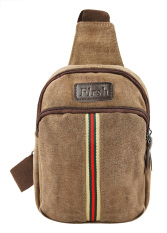 Unisex Fashionable Casual Canvas Messenger Shoulder Sling Backpack Travel Single Strap Cross Body Chest Pack Bag Fit for iPad Mini 8