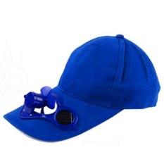 Unisex Topi Cap Topi Baseball Musim Panas dengan Kipas Bertenaga Surya Kipas Pendingin Cap untuk Camping Traveling Outdoor Aktivitas Warna: Biru-Intl