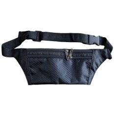 Unisex Travel Pinggang Tas Handy Hiking Sport Fanny Pack Pinggang Belt Zip Pouch Black