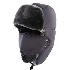 Adapula Musim Dingin Hangat Tebal Bulu Imitasi Tahan Angin Snorkeling Ski Snowboard Hat Bukti Sepeda Motor
