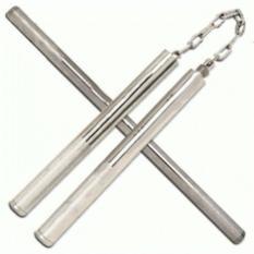 Spesifikasi Universal Double Stick Stik Tongkat Pentungan Ruyung Besi Steel Stainless Merk Universal