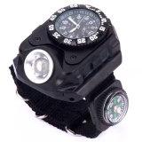 Jual Universal Jam Tangan Multifungsi Led Flashlight Cree Dengan Kompas Black Ori