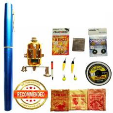 Universal - Lengkap Fishing Pen Mini Portable Pancing Pulpen Joran Pena Rod
