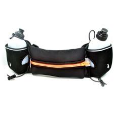 Harga Universal Neoprene Hydration Sports Running Belt With 2 Bottle Ze Hbw Hitam Orange Termurah