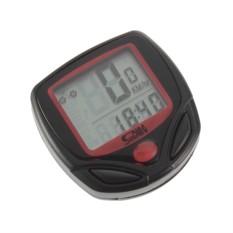 Review Universal Speedometer Sepeda 14 Function Lcd Display Bicycle Black