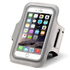 Universal Sport Armband Case for Smartphone 4.5 Inch - Waterproof Underwater Phone Bag Running Sports Armband Case Cover - Case Hp Tempat Hp Wadah Hp Saat Jooging - Silver