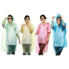 Urban - Jas hujan sekali pakai transparan disposable rain coat warna portable 3pcs