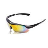 Toko Uv400 Polarized Sunglasses Kacamata Pengaman Goggle Untuk Sepeda Naik Aktivitas Terbuka Detachable Universal 5 Lens Hitam Termurah Hong Kong Sar Tiongkok