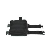 Toko Jual V2 Molle Drop Panel Kaki Utilitas Pinggang Pouch Bag Black Intl