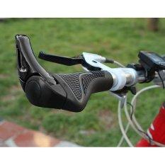 Vanker Karet Ergonomis Bersepeda Mtb Sepeda Gunung Sepeda Kunci Stang Ujung Grip Hitam Original