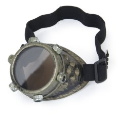 Kacamata Vintage Steampunk Bermata Gotik Kostum Cosplay untuk Mata Kiri (Perunggu)-Intl