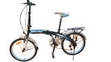Viva Cycle Twist Y3110 Hi Ten Folding 7Sp Sepeda Lipat 20 Hitam Biru Glossy Jabodetabek Only Terbaru