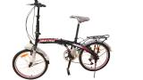 Toko Viva Cycle Twist Y3110 Hi Ten Folding 7Sp Sepeda Lipat 20 Hitam Merah Matt Jabodetabek Only Termurah