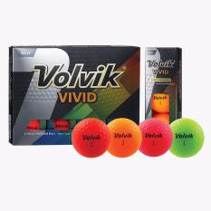 Model Volvik Golf Ball Vivid Dozen Bola Golf Terbaru