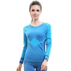 Perbandingan Harga Wa01 Baru Fashion Wanita Kompresi Olahraga Shirt Kenyamanan Nilon Cepat Kering Cocok Untuk Ukuran M Sky Biru Not Specified Di Tiongkok