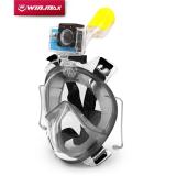 Diskon Wajah Penuh Wm Anti Kabut Masker Selam Snorkel Set With Penyumbat Telinga Dan Pemegang Kamera S M Hitam Win Max