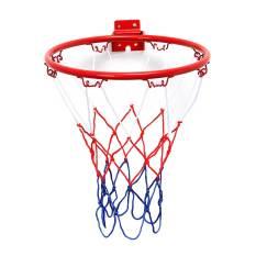 Wall Mounted Hanging Basketball Goal Hoop Rim Net Logam Alat Olah Raga Jaring 32 Cm Oem Diskon 50