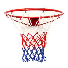 Beli Wall Mounted Hanging Basketball Goal Hoop Rim Net Logam Sporting Barang Jaring 45 Cm Lengkap