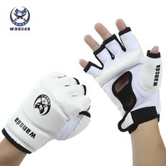 Wansda WSD - 1008 Paired Unisex Thai Half Finger Gloves for Karate Boxing Training - intl